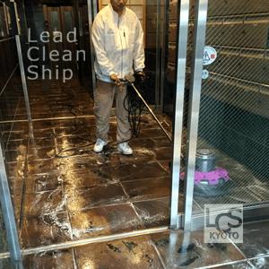 マンションの日常清掃風景1/京都清掃会社