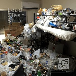 ゴミ屋敷の掃除前・八幡市
