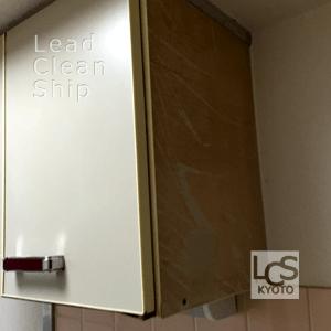 キッチン化粧板の補修前