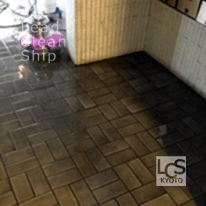 エントランスホールの洗浄作業