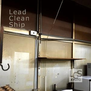 厨房内壁面清掃前
