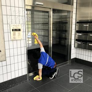 マンションの日常清掃風景4/京都清掃会社