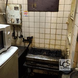 厨房全体の洗浄クリーニング前