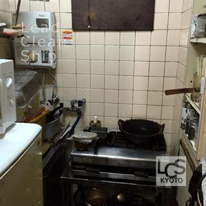 厨房全体の洗浄クリーニング後