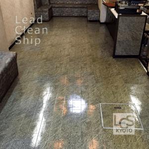 喫茶店の床面ワックス剥離・完了