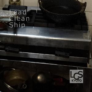 厨房ガスコンロの清掃後