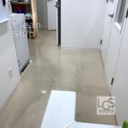 動物病院の床清掃前