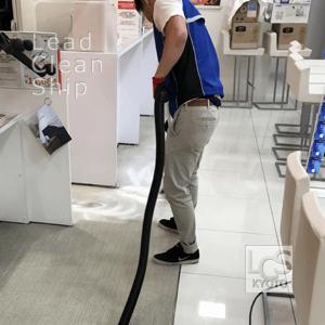 携帯ショップカーペット洗浄2