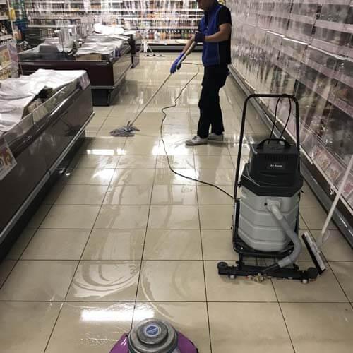 セラミックタイルの洗浄