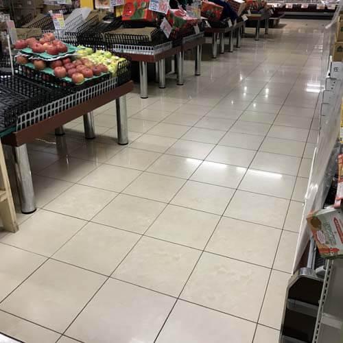 西京区スーパーのセラミックタイル洗浄仕上がり