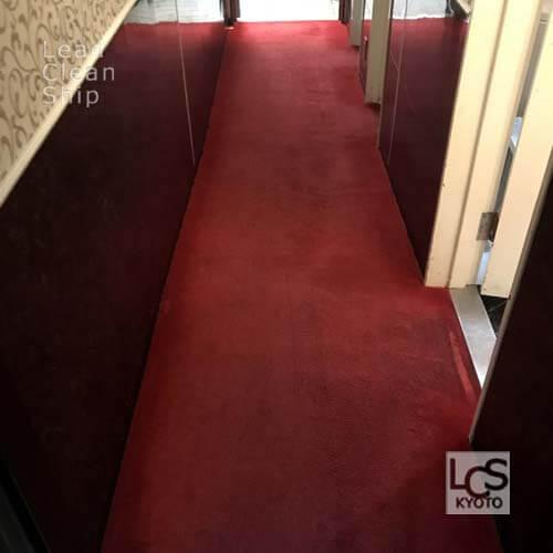居抜き店舗のカーペット洗浄後