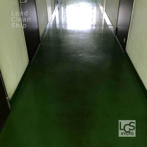上京区のマンションワックス剥離前