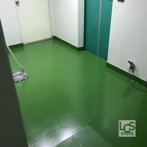 上京区のマンションワックス剥離後2