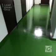 上京区のマンションワックス剥離後