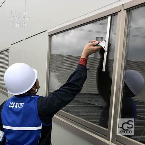 ガラス清掃のエルシーエス京都