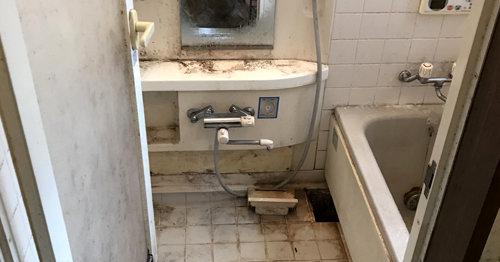 浴室清掃前:長岡京市