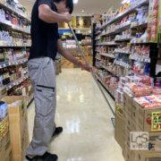 京都のスーパーマーケットワックスがけ