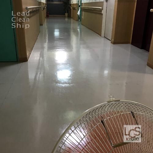 大阪府松原市の福祉施設のワックス塗布完了
