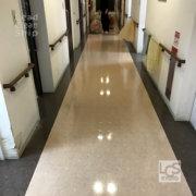 枚方市の福祉施設で床清掃