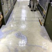 ワックス剥離汚水回収