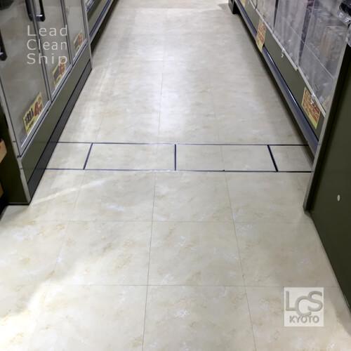 スーパーマーケットさま:床剥離ワックス塗布:中京区2