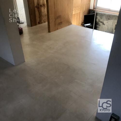 宿泊施設さま:床剥離ワックス塗布:向日市1前2