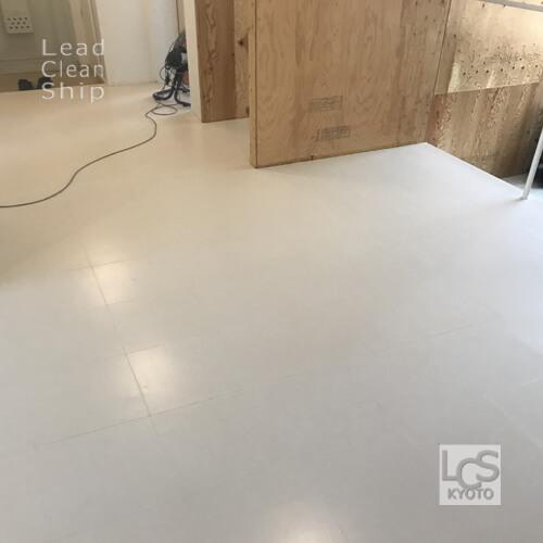 宿泊施設さま:床剥離ワックス塗布:向日市2