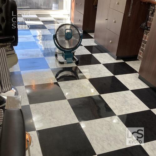 中京区の美容室さま床ワックス