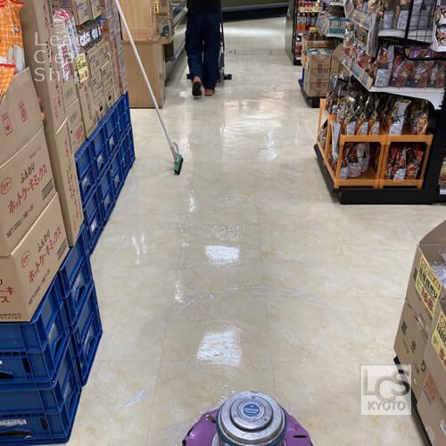 京都市のスーパー清掃1