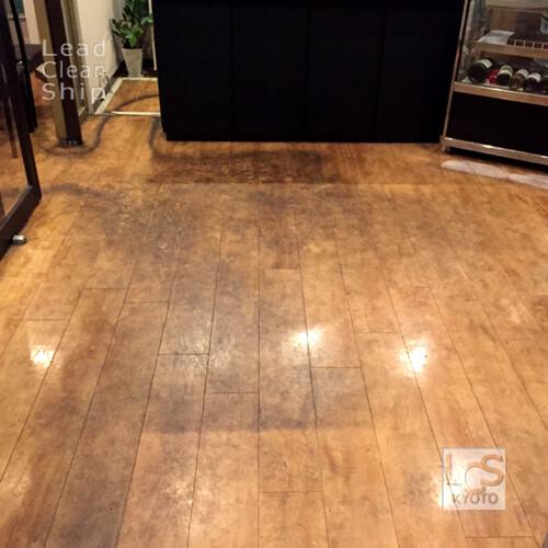 レストランさま:床洗浄ワックス塗布:滋賀県1
