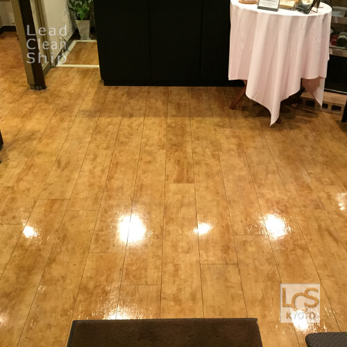 レストランさま:床洗浄ワックス塗布:滋賀県2