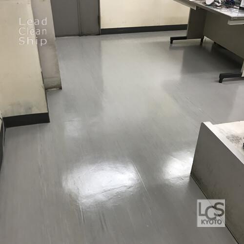 会社事務所さま:床剥離ワックス塗布:伏見区2