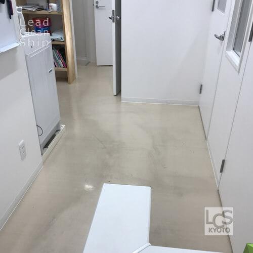 動物病院さま:床剥離ワックス塗布:西京区1