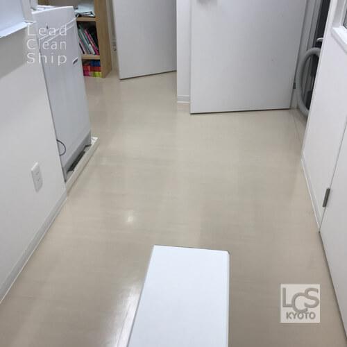 動物病院さま:床剥離ワックス塗布:西京区2
