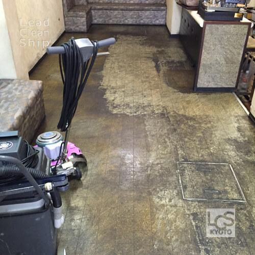 喫茶店さま:床剥離ワックス塗布:下京区1