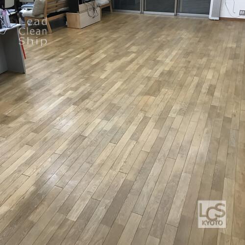 福祉施設さま:床洗浄ワックス塗布:滋賀県1