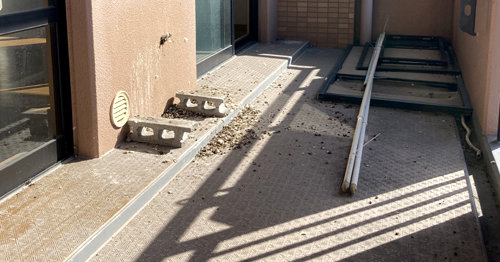 ベランダ丸洗い前:西京区