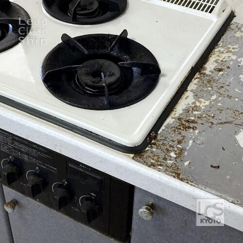 キッチン洗浄前アップ:西京区