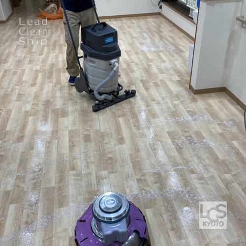 北区の福祉施設さま床洗浄2