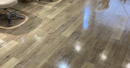 京都市中京区の美容室さま床洗浄ワックス3